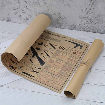 Vintage Classic Military Army Retro Kraft Paper Posters And Prints Retro Dormitory Bar Coffee Room Living Bedroom Decor Painting image