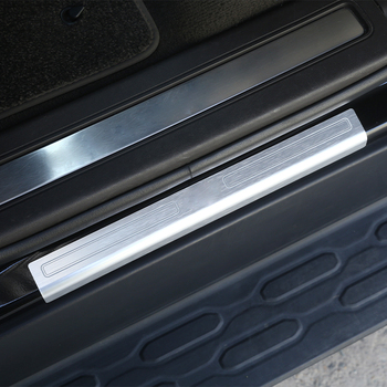 For Land Rover Discovery 5 LR5 2017 Car Aluminum Alloy Exterior Door Sill Scuff Threshold Protector Plate Cover Trim Accessories