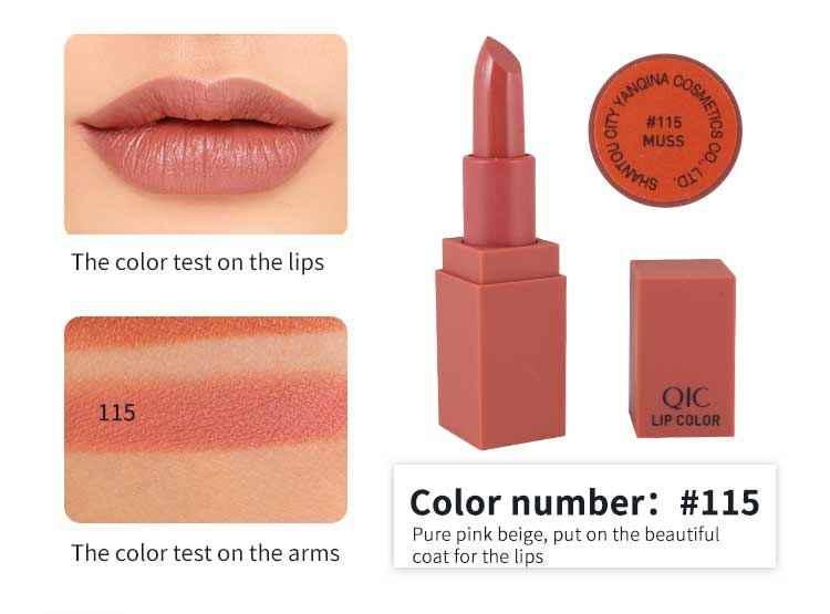 5 couleurs rouge à lèvres 1 pièces longue durée mat imperméable rouge à lèvres velours doux Pigments citrouille maquillage rouge à lèvres beauté lèvres TSLM2
