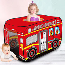[TML] Indoor Game Room Fire truck police car children tent Kids Playhouse Princess castle Play house travel tent outdoor toy cheap NoEnName_Null Cloth CN(Origin) 0-12 Months 13-24 Months 2-4 Years 5-7 Years 3 years old SOFT Sports Foldable