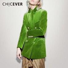 Chicever Elegante Vrouwen Blazer Notched Lange Mouwen Double Breasted Pocket Grote Size Vrouwelijke Suits Herfst Mode Nieuwe 2020