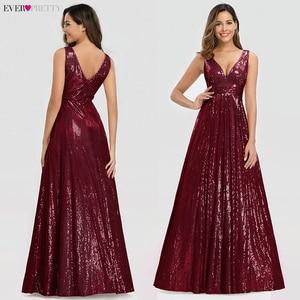 Image 3 - Женское вечернее платье с блестками Ever Pretty, розовое золотистое платье трапеция в стиле Саудовской Аравии, с V образным вырезом, для торжественных вечеринок, EP00825RG, лето 2019