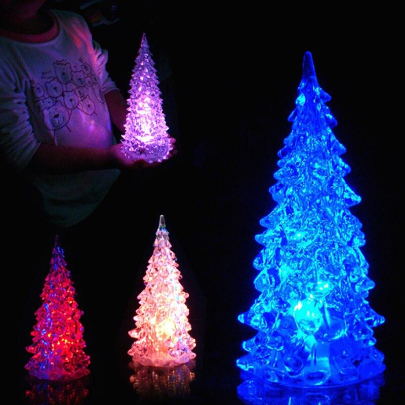 1 шт. Рождественская елка светодиодный ночной Светильник рождественские украшения Праздничный Рождественский подарок меняющийся