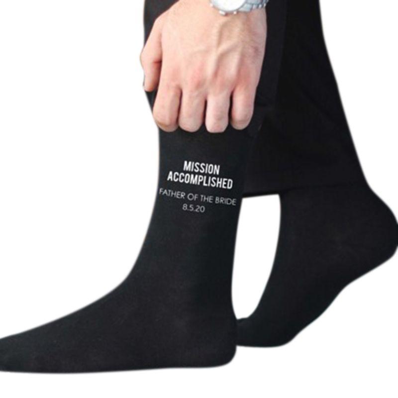 BLACK WEDDING PARTY SOCKS Groomsman Creative Cotton Socks Best Man Socks
