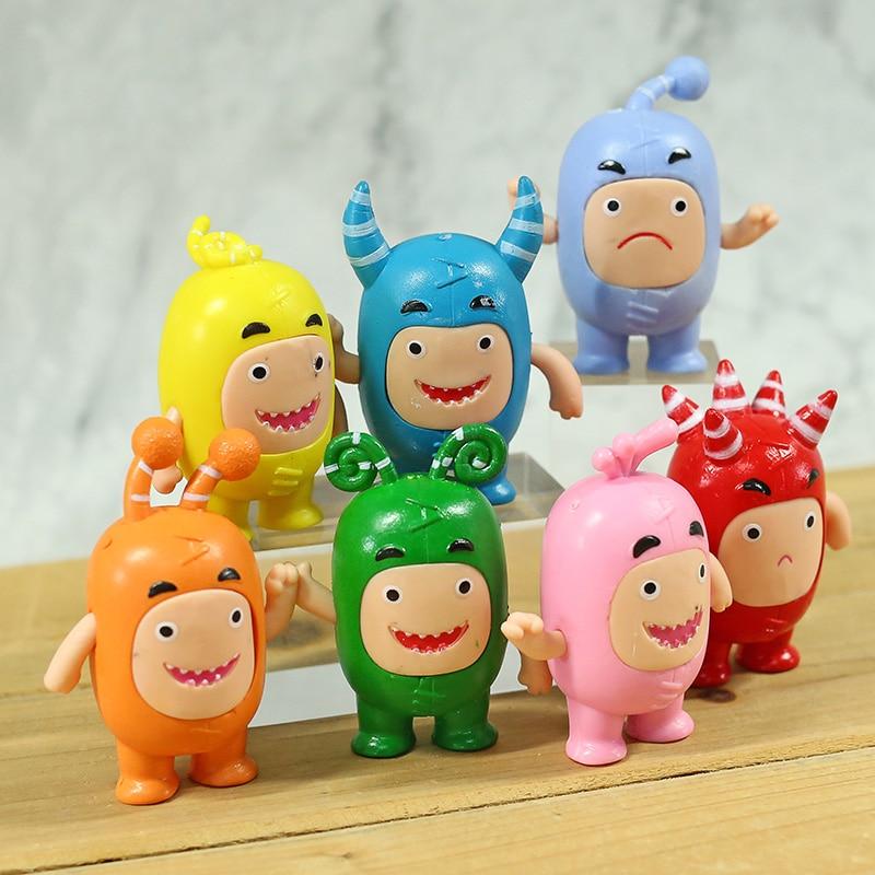 Oddbods предохранитель пузырьки Слик Джефф пузырьки ПВХ Фигурки игрушки милые Мультяшные аниме куклы 7 шт./компл.