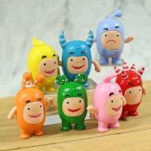 Oddbods fusível bolhas slick jeff bolhas pvc figuras brinquedos bonito dos desenhos animados anime bonecas 7 pçs/set