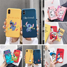Lucu Marie Cat Stitch Kartun Case untuk iPhone Plus XR X XS Max 6 6 S 7 7 Plus Donald bebek Spiderman Sesame Street Permen TPU Cover(China)