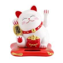 Fortune artesanato estatuetas miniaturas riqueza acenando gato ornamento presente de aniversário criativo bonito agitando mãos gato sorte