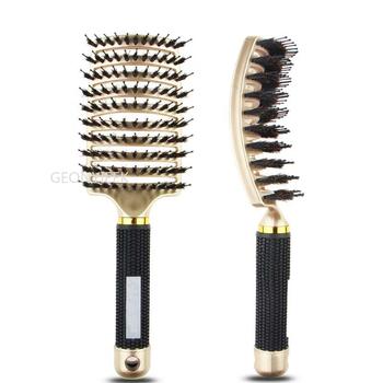 Anti Klit szczotka do włosów kobiety kobiece włosy grzebień masujący skórę głowy włosia i nylonu szczotka do włosów mokre kręcone szczotka do rozplątywania włosów do salonu tanie i dobre opinie HAIMAITONG CN (pochodzenie) Jedna jednostka About 25cm *7 5cm Other A1720