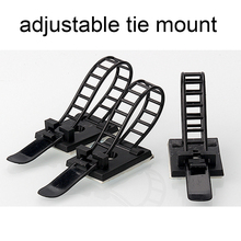 Cable-Clips Adjustable for Wire-Tie Black-Color 10pcs 18--25-Clamp