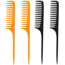 Detangling cabeleireiro pente de dente largo longo lidar com a extensão do cabelo reduzir a perda de cabelo pente afro adequado para uso doméstico salão de beleza