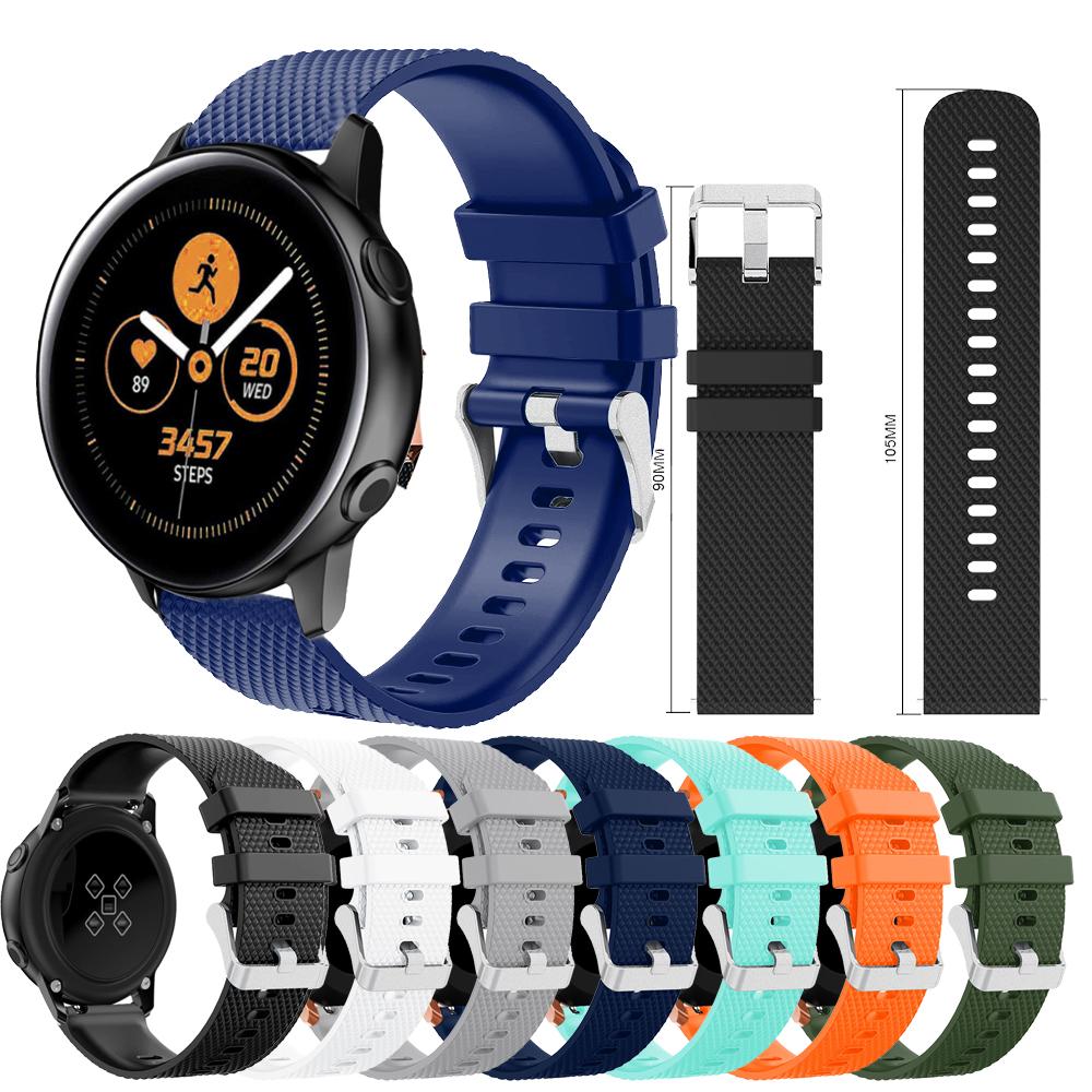 Wristband For Samsung Galaxy Watch Active 42mm Sport Strap Band Silicone 20mm Watchband For Samsung Gear S2 Wrist Strap Bracelet