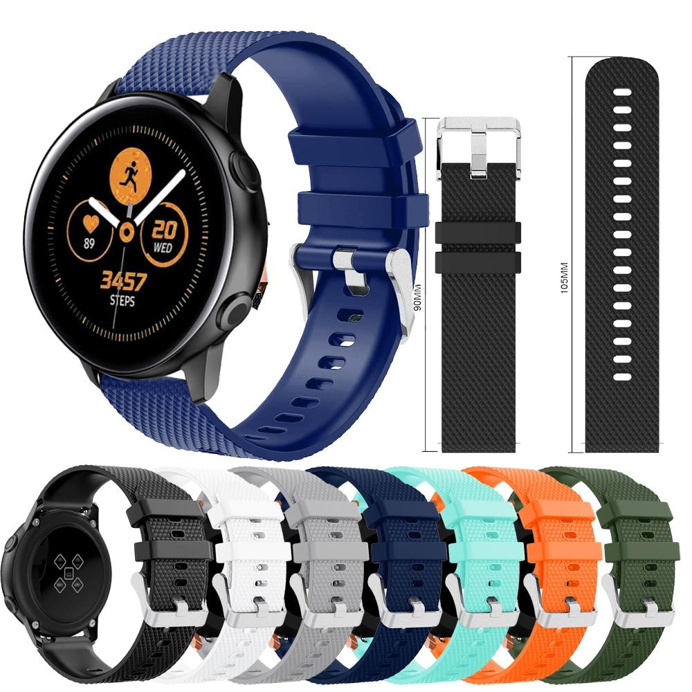 Wristband For Samsung Galaxy Watch Active 42mm Sport Strap Band Silicone 20mm Watchband For Samsung Gear S2 Wrist Strap Bracelet