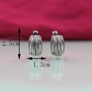 Image 5 - פתיל דולי חדש טאסל עגילי גבירותיי אופנה חתונה האצולה עגילי 585 רוז זהב טבעי זירקון בוהמי עגילים