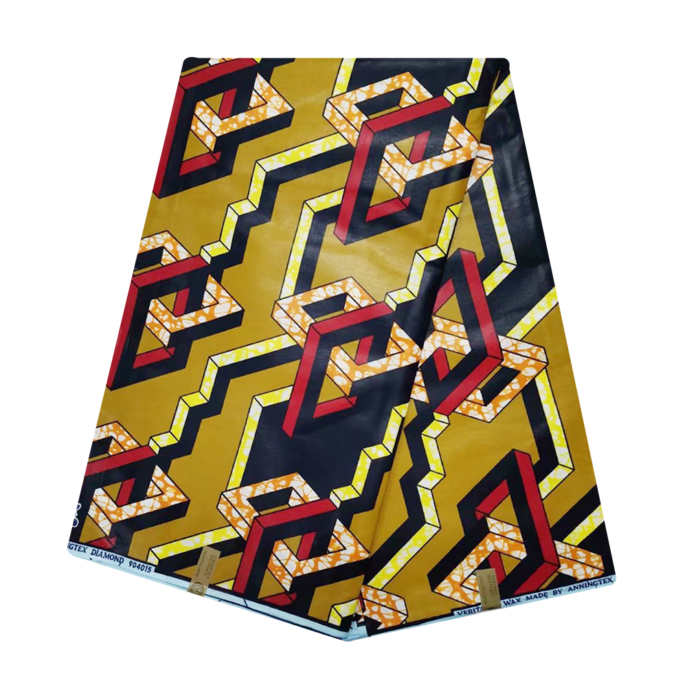 African Wax Prints Fabric Ankara Wax Pange Veritable Super Java Materials for Sewing 6 Yards Ghana Nigerian Wax Tissue