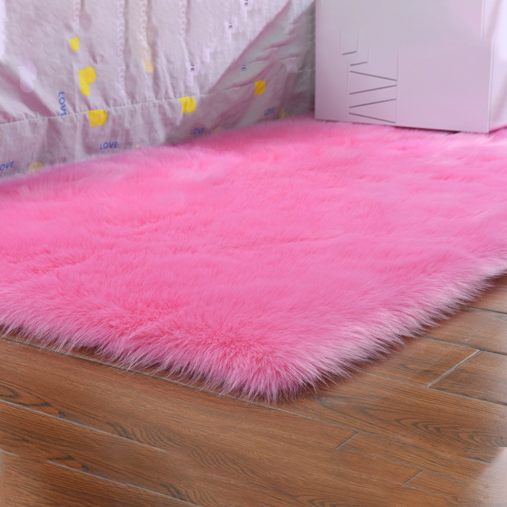 Carpet Area-Rug Floor-Hallway-Decoration Faux-Fur Bedroom Living-Room Fluffy Soft Home