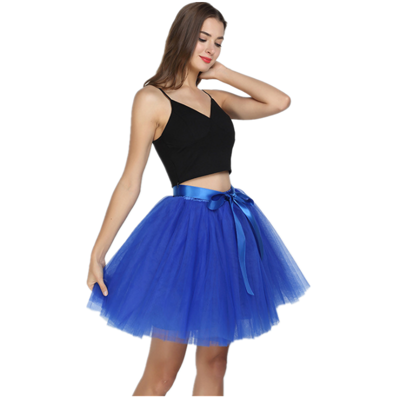 Women Puffy Retro Vintage Crinoline 4-layer Ball Gown Jupon Short Black White Red Plus Size Skirts For Dress
