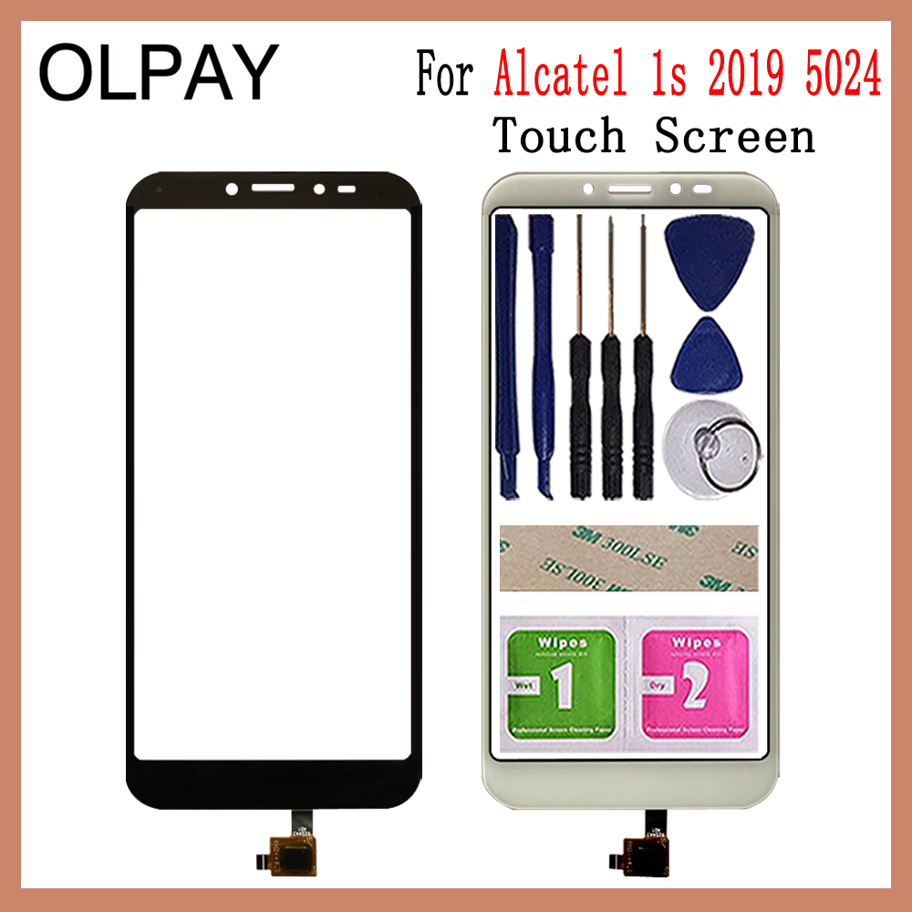 Mobile Phone Touch Panel 5.5'' Inch For Alcatel 1s 2019 5024 Ot5024 Touch Screen Digitizer Panel Fornt Glass Sensor Repair Parts