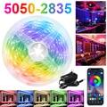 Цветная (RGB) Светодиодные ленты светильник s 12V Bluetooth WiFi Luces LED DC 5050 SMD2835 гибкий Водонепроницаемый лента диод дистанционного Управление светиль...