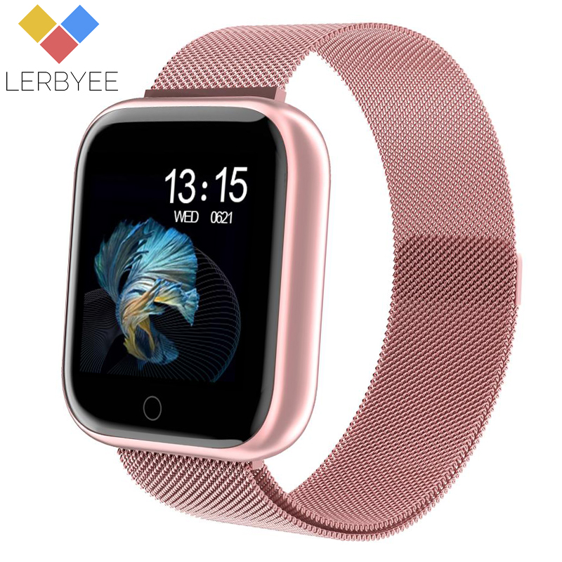 2020 Hot Fitness Tracker P80 Waterproof Heart Rate Sleep Monitor Smart Wristband Call Reminder Pedometer Smart Bracelet Sport