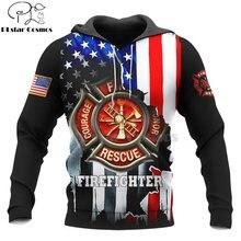 Пожарный герой Харадзюку Повседневный Спортивный костюм 3d Принт