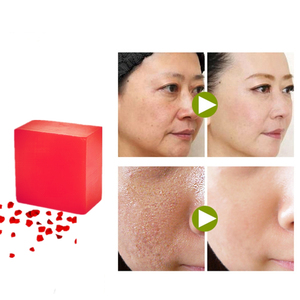 Fast Closing Pores Acne Scar Repair Rough Skin Soften Handmade Plant Herb Soaps Whitening Face Lift Fishtail Lines Rose Soaps
