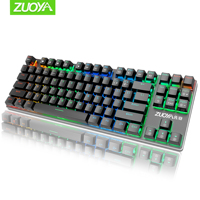 Mechanical Keyboard Russian English gaming Red blue black Switch Metal Wired USB LED RGB light Anti-Ghosting for gamer PC laptop
