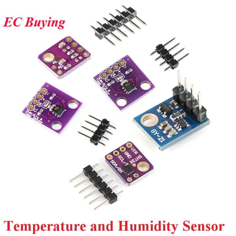 SHT21 SHT30 SHT31 Si7021 Temperature And Humidity Sensor Module IIC I2C HDC1080 GY-213V-HTU21D GY-SHT30-D GY-SHT31-D For Arduino