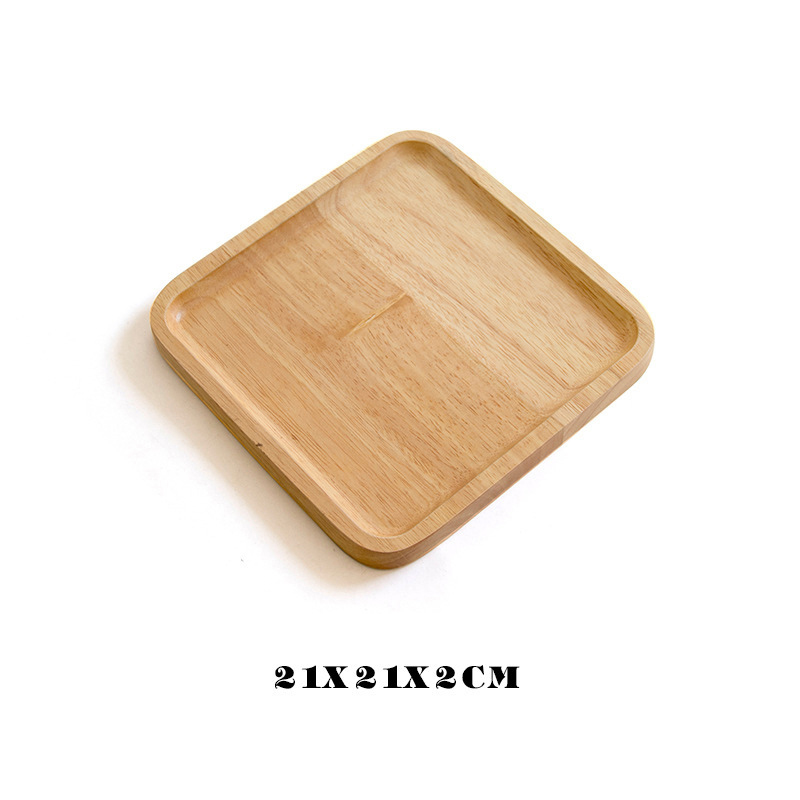 Wooden Round Storage Tray Plate Tea Food Dishe Drink Platter Food Plate Dinner Beef Steak Fruit Snack Tray Home Kitchen Decor - Цвет: 22
