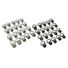 20pcs Boot Lace Hooks Lace Fitting with Rivets for Camp/Leather Shoes Repair