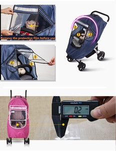 Image 5 - Baby Stroller Raincoat Cover Trolley Umbrella Pram Rain Cover Snow Windshield