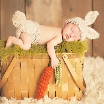 Nowy 1Pc noworodki rekwizyty fotograficzne dla dzieci dziewczyny chłopcy marchewka szydełkowe akcesoria fotograficzne dla dzieci tanie i dobre opinie CN (pochodzenie) Z wełny Wyposażone Unisex Stałe baby
