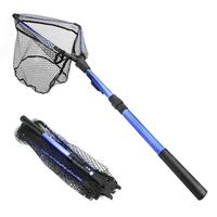 Portable Aluminum Alloy Triangle Folding Fishing Net Fly Hand Dip Casting Net Fishing Tackle Fishing Tank Accessories