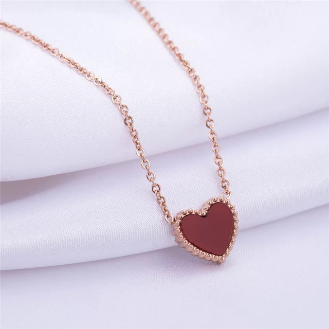 2020 Red Heart Pendant Necklace 5