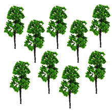 8cm Ho Scale Architectural Model Green Trees Toys Wire Miniature Plants For Diorama Tiny Forest Wargame Scenery Making