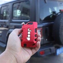 Hyzhalto liga de alumínio caso chave para jeep wrangler jl 2018 2019 chaves da porta do automóvel proteção escudo estilo do carro