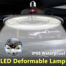 Déformables Garage ampoule LED 60W 80W 100W 120W E27 UFO lumière LED 110V E26 LED étanche Lampe 220V Éclairage Industriel 2835