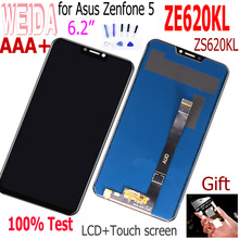 цена на WEIDA 6.2''For Asus Zenfone 5 ZS620KL Zenfone 5 ZE620KL LCD Display Touch Screen Digitizer Assembly Black With Tools ZS620KL lcd