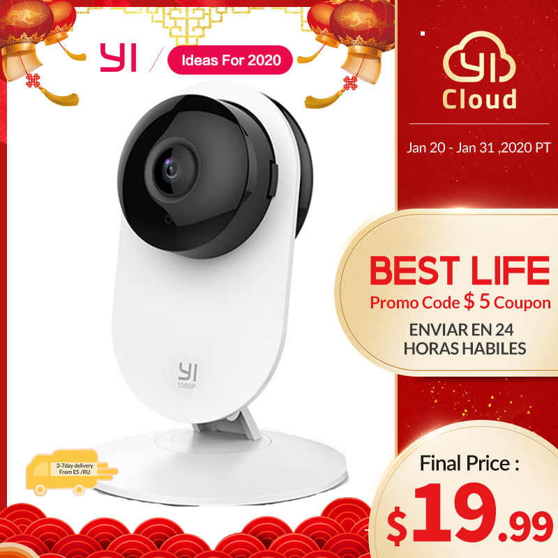 YI 1080 p, cámara para el hogar, detección de llanto de bebé, diseño de vanguardia, visión nocturna, WIFI, sistema inalámbrico de vigilancia de seguridad IP Global