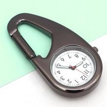 Nurse Watch Hospital Gift Quartz Doctor Clocks Carabiner Clip Watches Outdoor Black Reloj Unisex Sport Compass Fob Pocket Watch