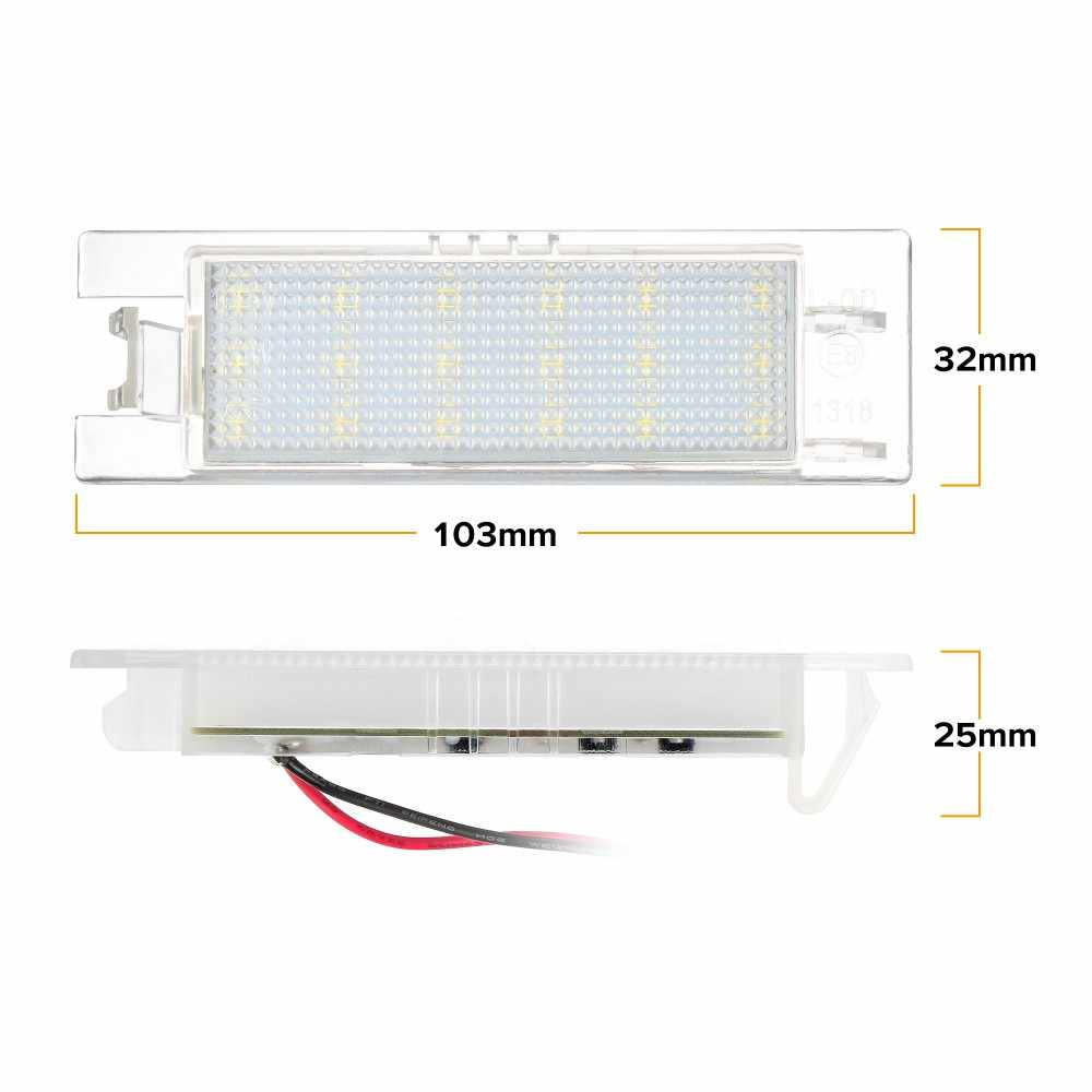 2 pièces Voiture-Style plaque d'immatriculation LED Lumières pour Vauxhall Opel Astra H J Corsa C D Insignes Tigra B Twintop Vectra C Zafira B OPC