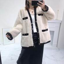 Genuine Leather jacket winter real mink fur coat women plus size clothes 2019 womens tops and blouses(China)
