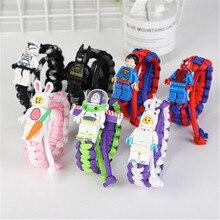 Новая история игрушек 4 фигурки игрушки древесный Базз Лайтер браслет Супергерои супер человек Железный человек блок игрушечный браслет фигурка детей