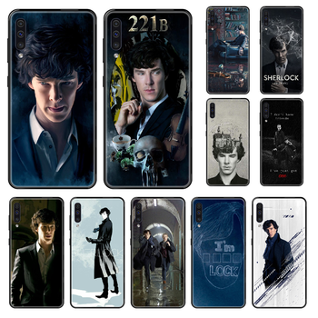 Sherlocked Phone case For Samsung Galaxy A 3 5 8 9 10 20 30 40 50 70 E S Plus 2016 2017 2018 2019 black 3D coque soft funda image