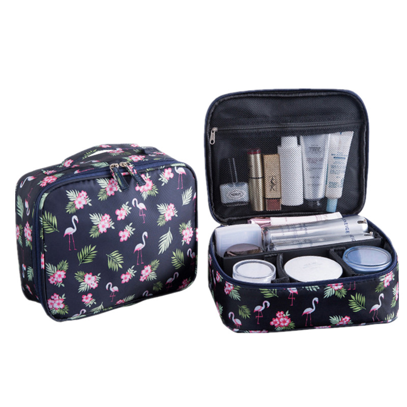 Men's Women's Printing Cosmetic Bag Cases Beauty Vanity Make Up Wash Pouch Travel Necessarie Makeup Toiletry Kit Organizer Box