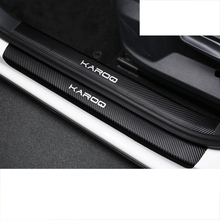 Lsrtw2017 Carbon Fiber Abs Door Sill Thresold Cover for Skoda Karoq