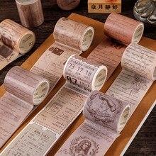 3m * 5cm Retro washi band scrapbooking material zubehör handwerk liefert Dekoration Tagebuch Schreibwaren aufkleber Album Stick Label