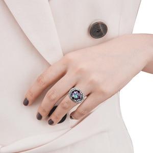 Image 2 - Szjinao Luxury Men Ring Real 925 Sterling Silver Rings For Women Gemstones Unisex Vintage Mens Jewellery Handmade Fine Jewelry