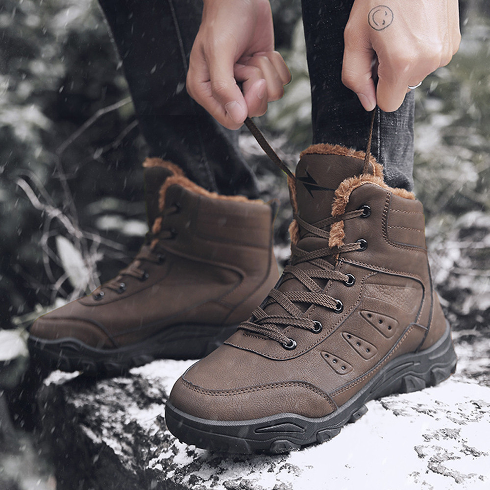 Man Boots with Military Type for Men Combat Shoes Plus velvet Cold Slip Boots Waterproof <font><b>Askeri</b></font> <font><b>Bot</b></font> Army Shoes <font><b>erkek</b></font> ayakkabi image