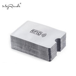 10 шт. анти-сканирующая карта рукав Кредитная RFID карта протектор Анти-магнитная алюминиевая фольга портативный банк держатель для карт